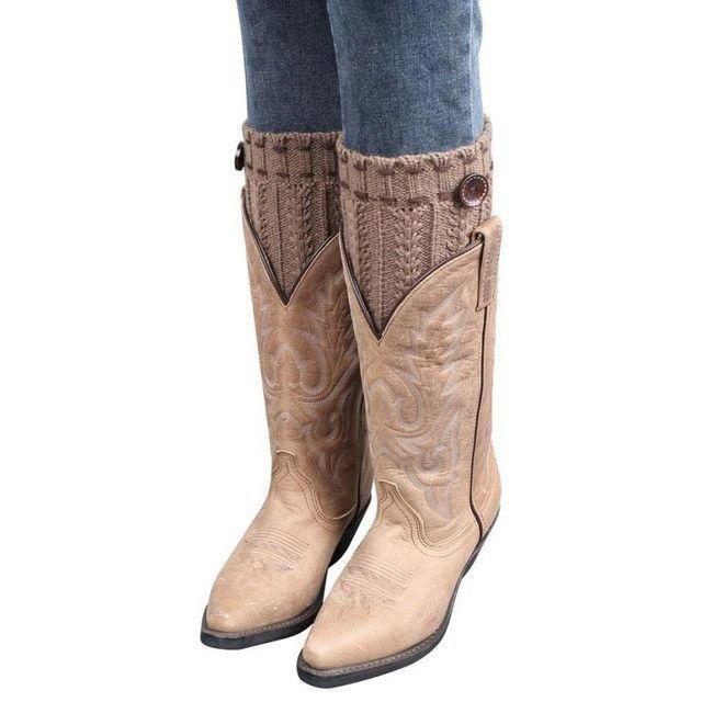 Elegant Nobility Women Winter Knitted short Leg Warmers Boot Cover Keep