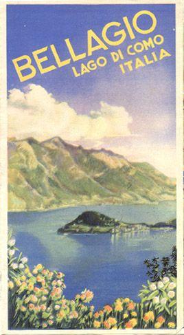 Bellagio Lago di Como Italia 1938