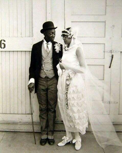Wedding Couple in 1920's