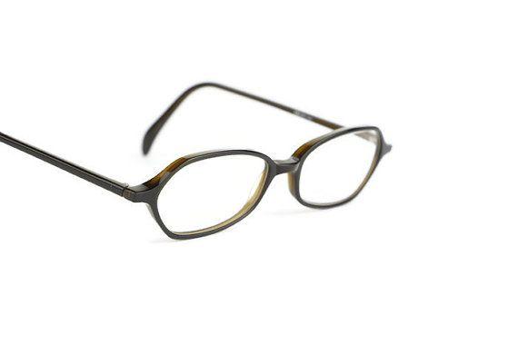 Schwarz Brille Vintage Kunststoff WK Model von ClassicalSense
