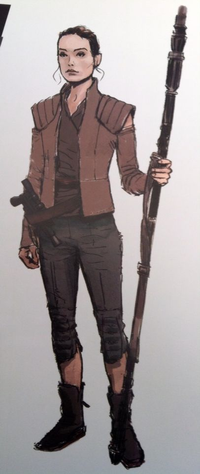 Kira (Rey) concept art from 'The Art of Star Wars: The Force Awakens'