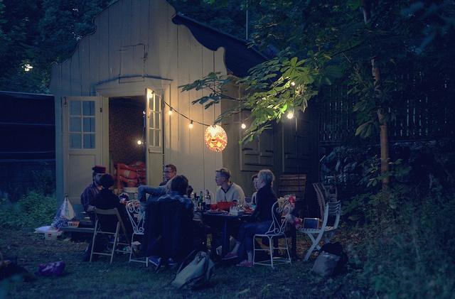 crayfish party   my back yard, södermalm, stockholm