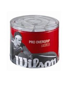 TAMBOR 60 OVERGRIPS WILSON PRO PERFORADOS Son los mejores overgrip del mercado, con mas agarre y durabilidad. Pesas solo 3 grs, lo cual no subes mucho el peso de tu pala de padel o raqueta de tenis. http://www.padelnuestro.es/cubo-60-overgrips-wilson-perforados-p-1209.html