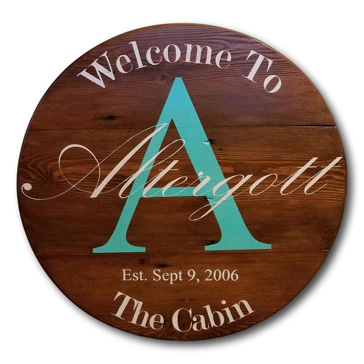 Rustic Welcome Sign Round Custom Wood Signs Majestic