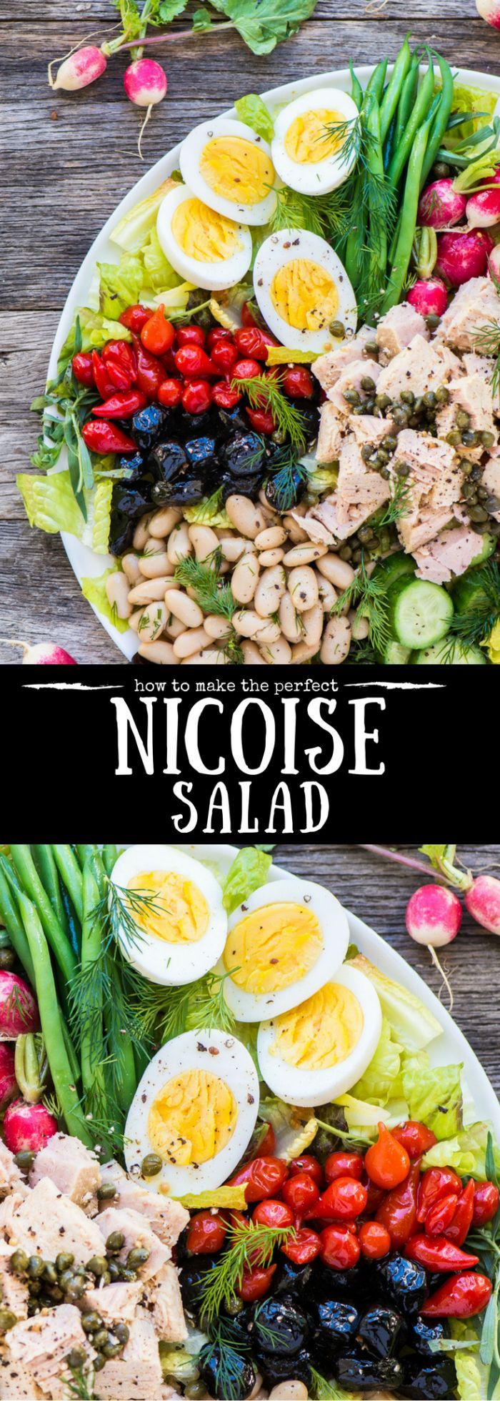 How to Make the Perfect Nicoise Salad ~ a beautiful and healthy main course salad for all seasons! ~ French | canned tuna | composed salad | #ad