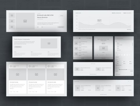 UI8 — Products — Karuki Wireframe Kit