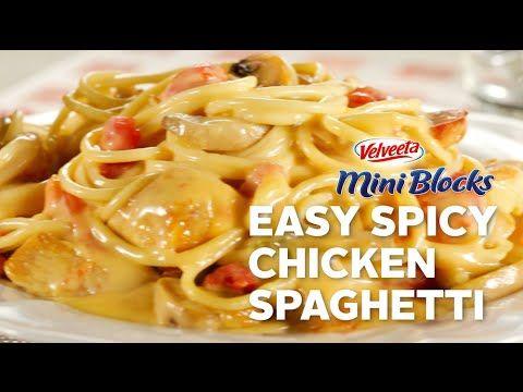 VELVEETA Mini Blocks Easy Spicy Chicken Spaghetti