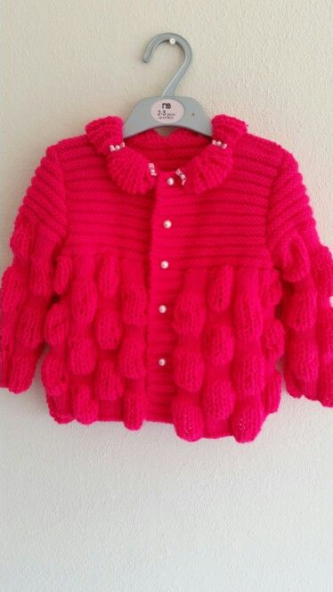 #örgü#bebek#ceket#pofuduk#kızbebek#pembe#elyapımı#knitting#baby#grils#pink#handmade#cardigan#