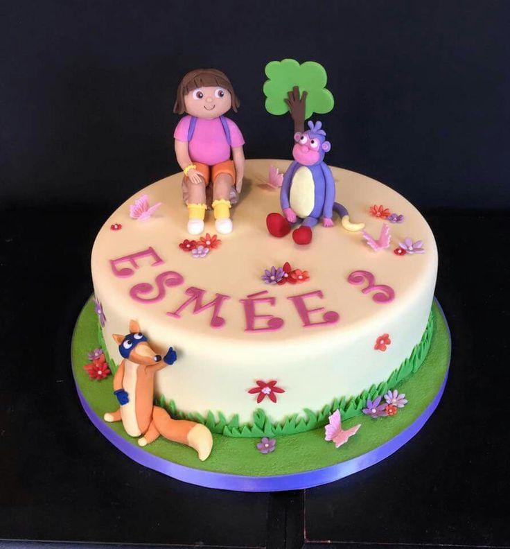 Dora and her friends always make a cute birthday cake