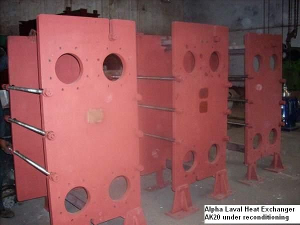 Alpha laval Heat exchangers is Alpha Laval Heat Exchanger AK 20 under reconditioning proces.