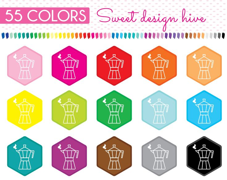Espresso Coffee Maker Clipart, Coffee Maker Clipart, coffee machine clipart, Rainbow coffee maker, Planner Stickers, Commercial Use, PL0125 by Sweetdesignhive on Etsy