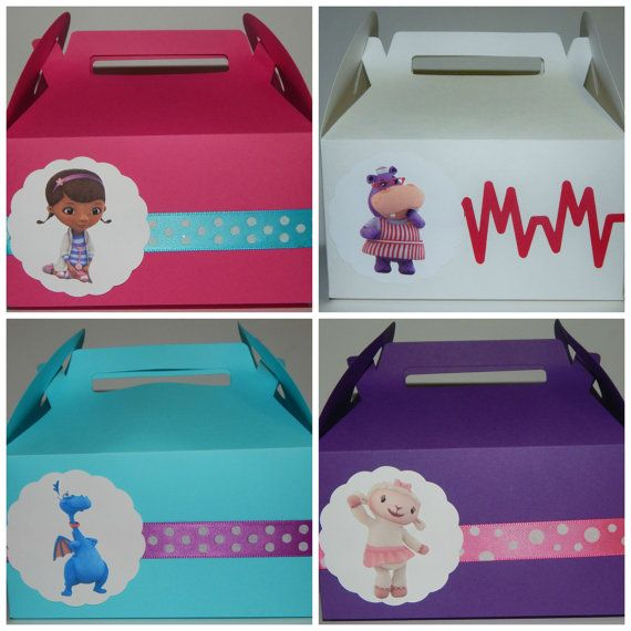 Doc McStuffins Favor Box by DesignsByKerriB on Etsy