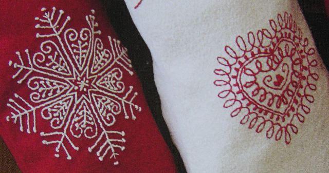 Scandinavian style embroidery