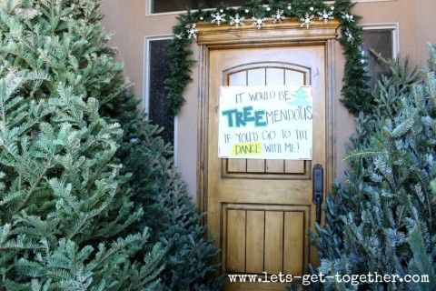 This ones great for winter formal if you got one of those little mini decorative Christmas Trees