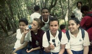 From left: Micheala (me), Kayleigh, Giovanno,Erin and CeeJay at our school's Grade 10 hike.