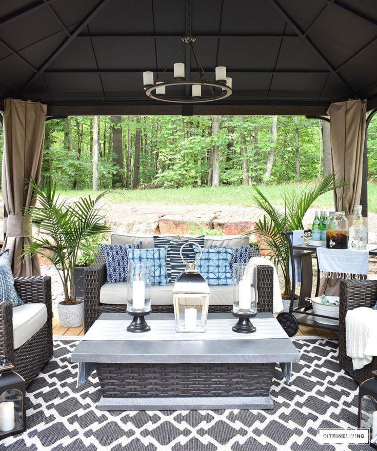 Backyard Patio Reveal Perfect For Entertaining Citrineliving Backyard Patio Furniture Outdoor Patio Decor Patio Table Decor