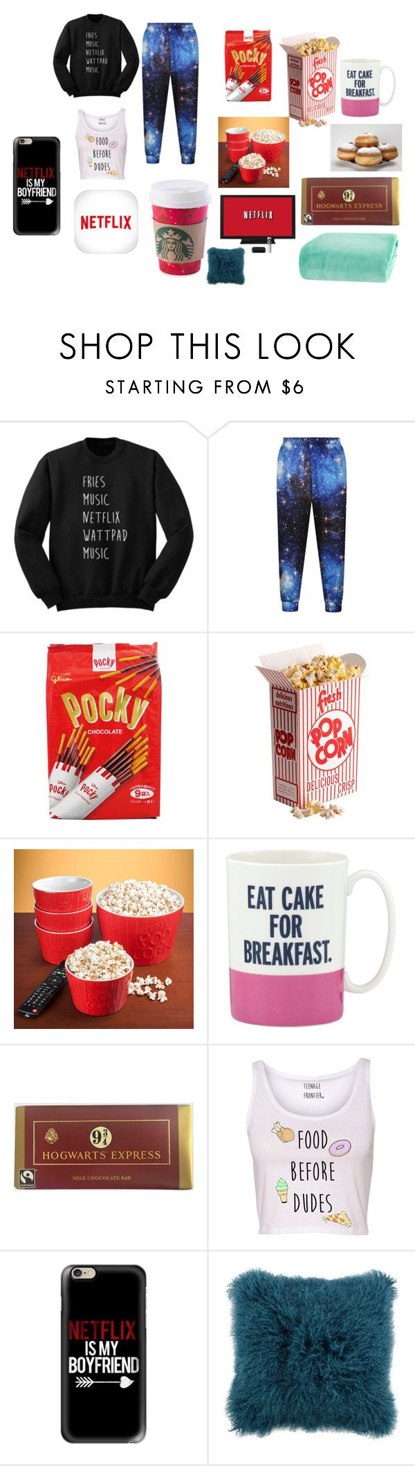 """netflix!"" by courtneyn-i on Polyvore featuring interior, interiors, interior design, home, home decor, interior decorating, Kate Spade, Casetify and Berkshire Blanket"
