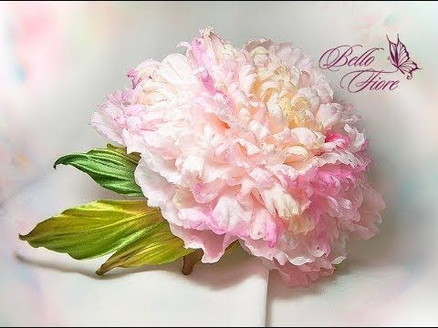 Цветы из шелка. Мастер класс «Пион Fairy Dream из шелка»
