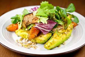 Carrot and Avocado Salad with Crunchy Seeds Avocado Salads, Healthy ...