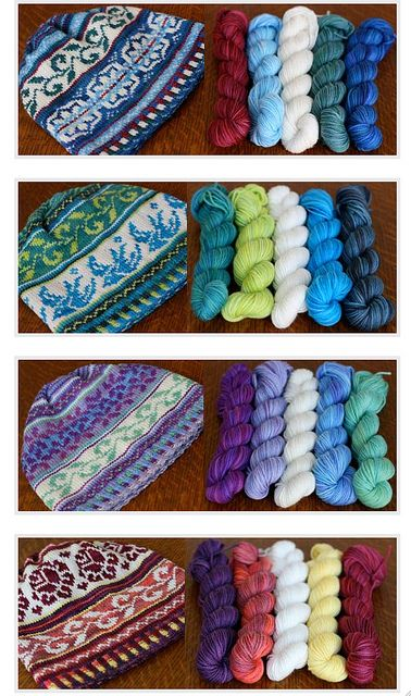 Four Seasons hat Patterns from Tanis Fiber Arts. So Lovely!