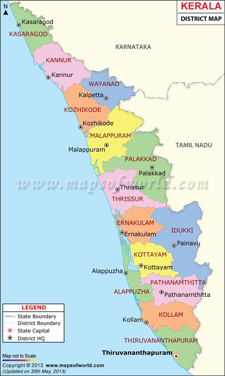 Kerala Map | Ideas for the House in 2019 | India map ...