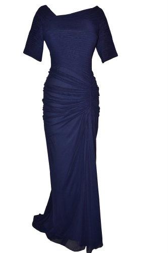 Tadashi Shoji Womens Dress Indigo Blue Evening Gown Size Small « Clothing Impulse