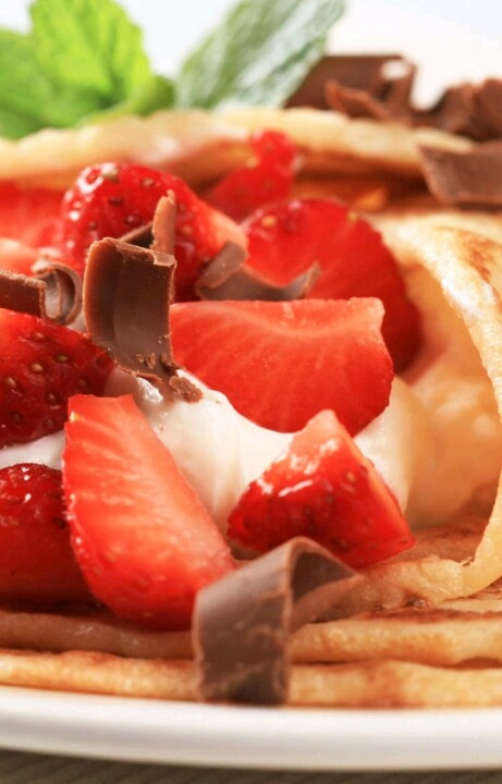 Strawberry And Mascarpone Crepes With Strawberry Syrup Recipe ...