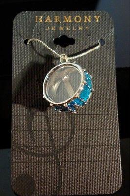 Snare Drum Necklace - Blue Sparkle