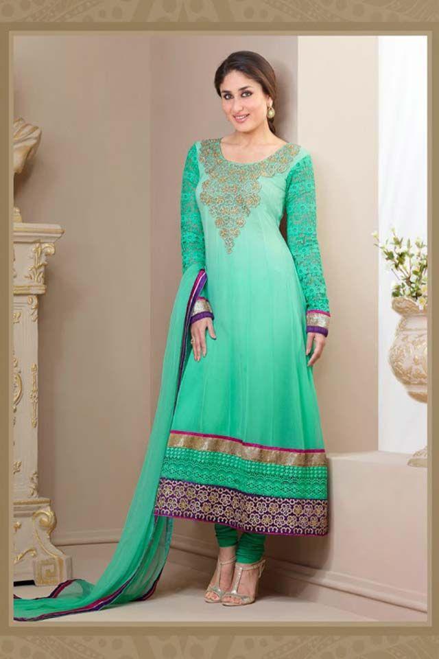 Kareena Kapoor Green Anarkali Suit-Online Shopping-  |Kareena In Green Anarkali Dress