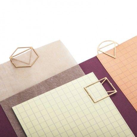 Fundamental Paperclips Brass / Geometric shapes / Stationery