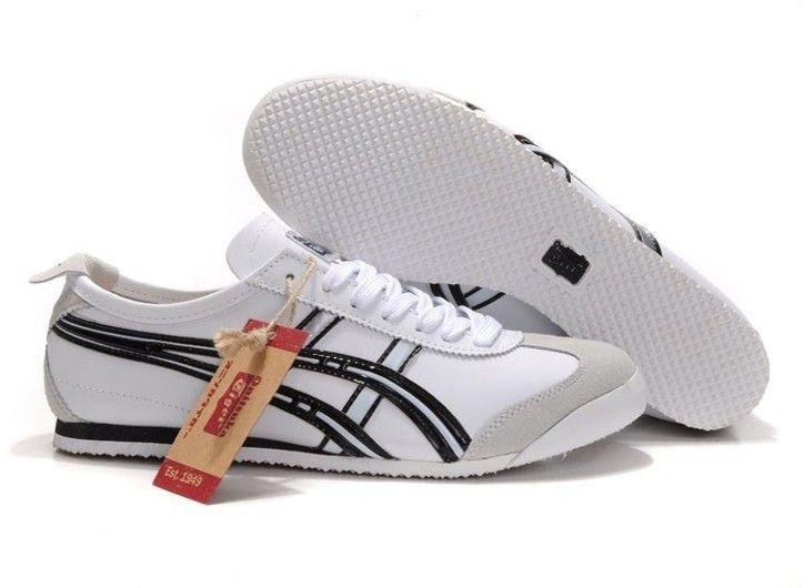 size 40 6de0e 731ff Mens Onitsuka Tiger Mexico 66 (White/ Black/ Silver) Shoes ...