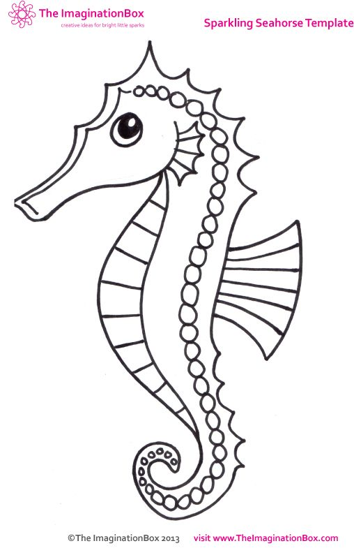 Seahorse template preschool pictures to pin on pinterest for Mister seahorse coloring page