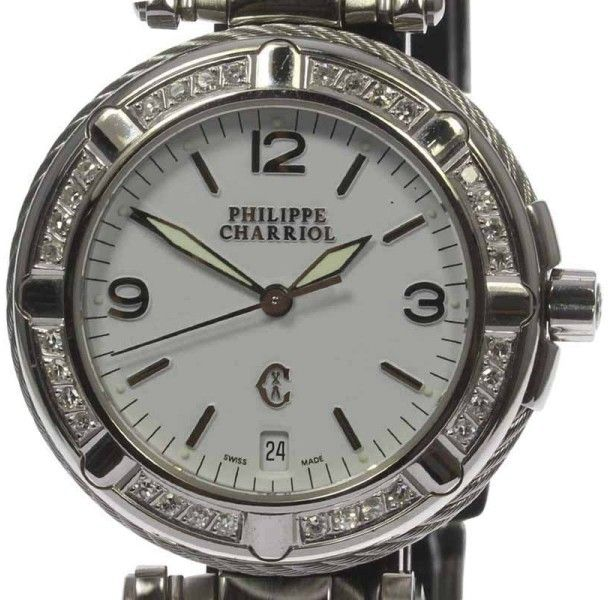 Philippe Charriol Celtic Stainless Steel Quartz 31mm Mens Watch