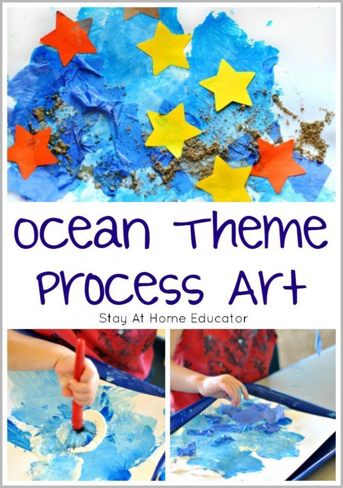 Ocean Art for Toddlers and Preschoolers - Process Art