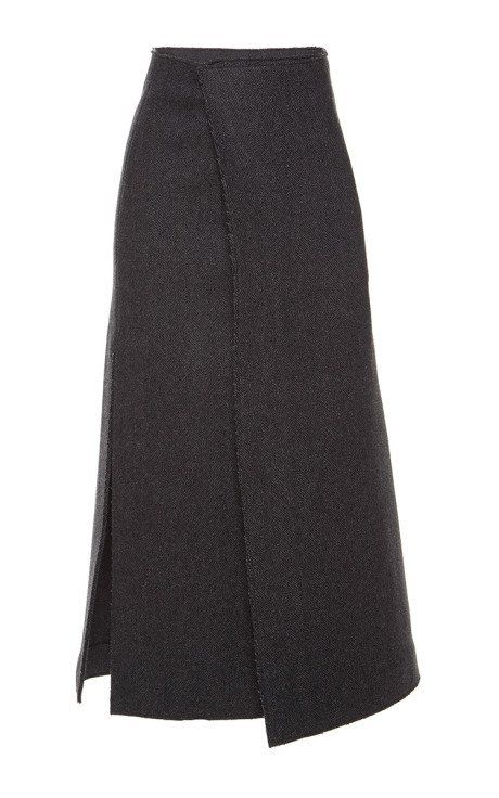 Herringbone Felt Skirt by Marni for Preorder on Moda Operandi