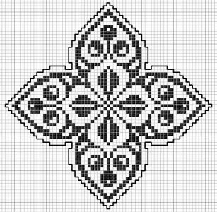 Square 23 | gancedo.eu Links to page w/hundreds of cross stitch patterns that can easily be used for stranded knitting