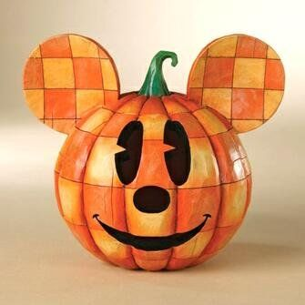 Disney Jim Shore Mickey Halloween Pumpkin head