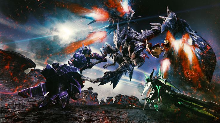 Barufaruku are Elder Dragons introduced in Monster Hunter XX.