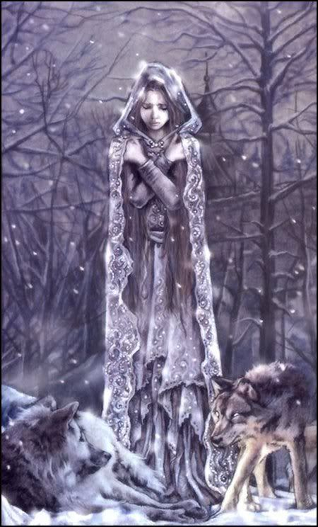 Kolyada is a Russian Goddess of the Winter Solstice.