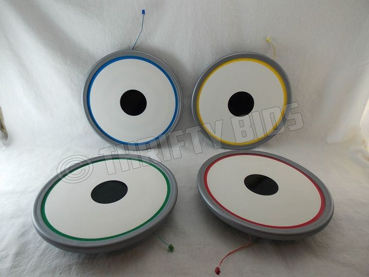 The Beatles RockBand Replacement Drum Pads Red Blue Green Yellow PS3 Xbox360 Wii #RedOctane