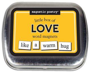 Little box of love - blikje met woordmagneetjes