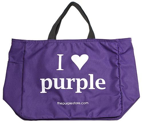 """I Heart Purple"" Tote Bag (I Love Purple)"