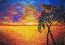 Znalezione obrazy dla zapytania krajobrazy suchymi pastelami