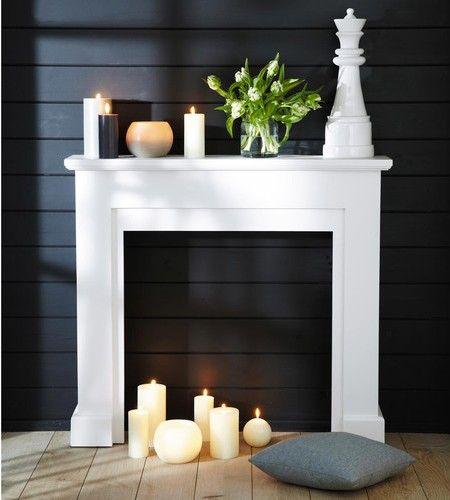 les 25 meilleures id es concernant chemin e noire sur. Black Bedroom Furniture Sets. Home Design Ideas