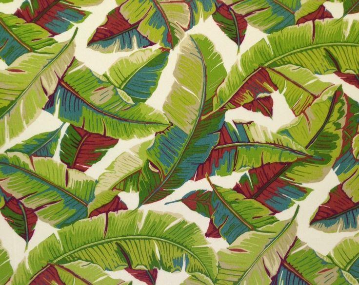 """Richloom Balmoral Garden Leaf Green Outdoor Furniture Fabric by The Yard 54"""" W   eBay"""