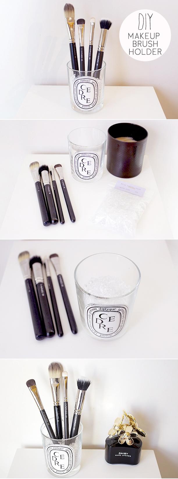 DIY Makeup Brush Holder - Nouvelle Daily