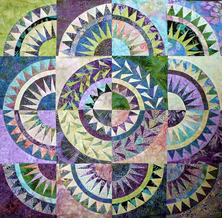 """Beautiful New York Beauty Quilt (From """"Sue Garman: Part Two: Workshops, Retreats, a Mystery... and More!!!"""")"""