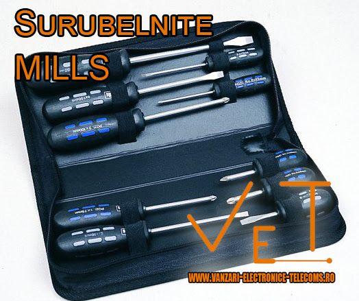 Prin intermediul magazinului nostru online va punem la dispozitie o gama variata de surubelnite fabricate de renumita marca Mills din Marea Britanie. Acestea sunt potrivite pentru o multitudine de activitati fiind fabricate din materiale rezistente la conditii de munca dure. Descopera mai multe informatii despre modelele de surubelnite marca Mills pe http://www.vanzari-electronice-telecoms.ro/produse/98/surubelnite/