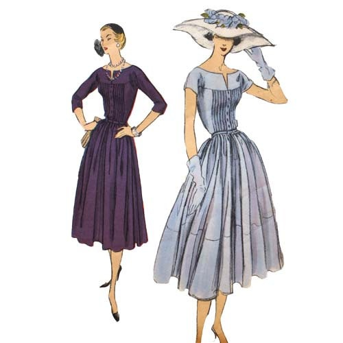 1950s Sun Dress Pattern Bust 34 Vogue 9025 by VtgSewingPatterns, $45.00