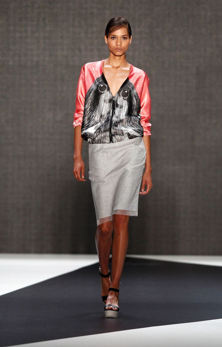 Look 1: Stellar Bomber Jacket with Greyhound Skirt